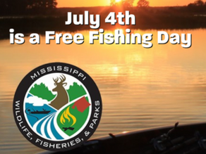 Free Fishing Day on Sunday, July 4th