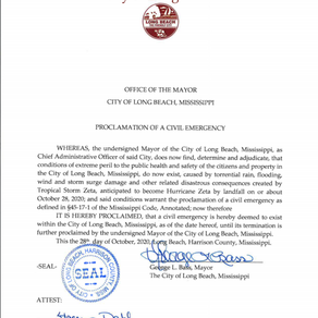 Proclamation Of A Civil Emergency Declared