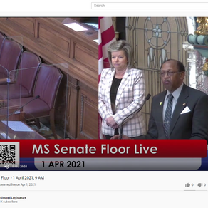 MS Legislature's YouTube Channel Generates 283,400 Views in First Year of Operation
