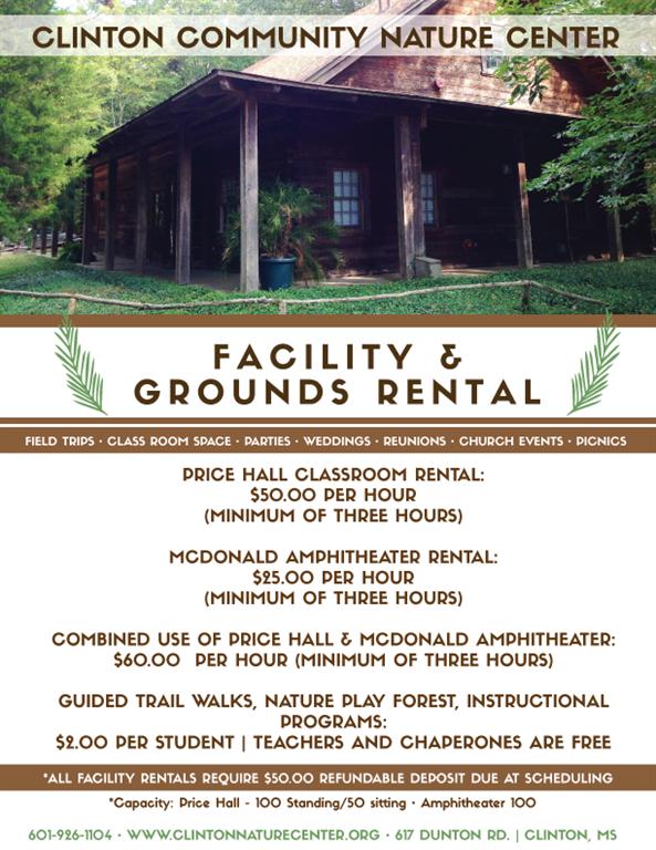 Clinton Nature Center Facility Rental