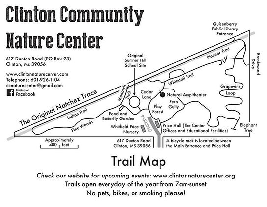 Clinton Community Nature Center Trail Map