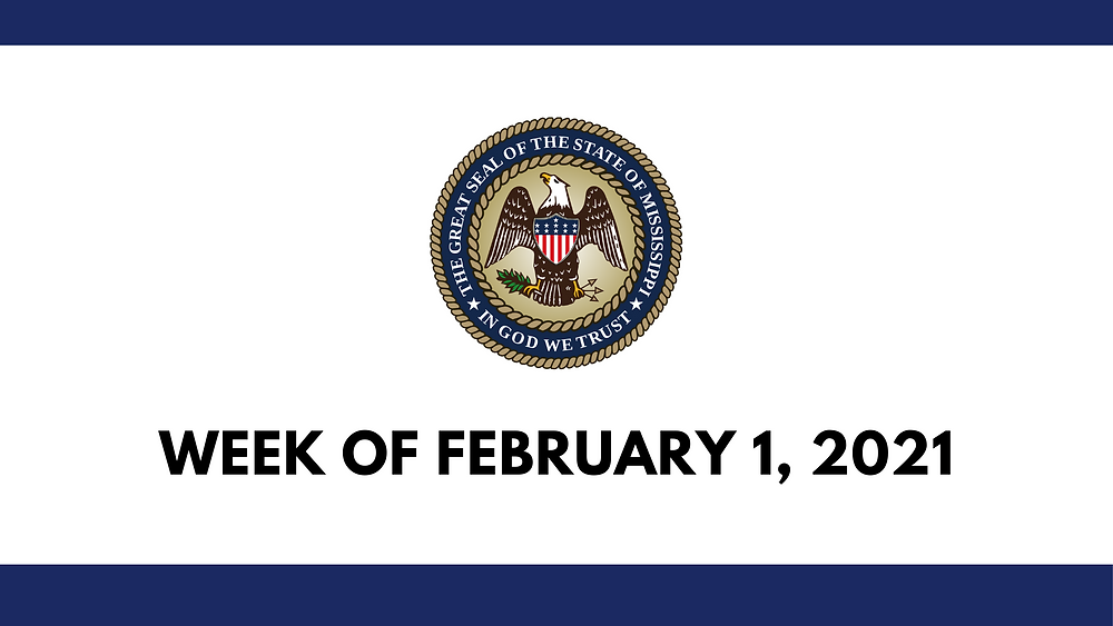 State of Mississippi Seal Week of February 1, 2021