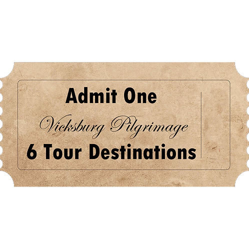 2020 Spring Vicksburg Pilgrimage Tour - 6 Destinations