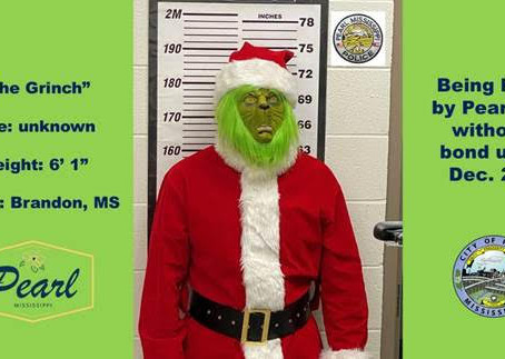 Pearl Police Arrest Grinch, Save Christmas