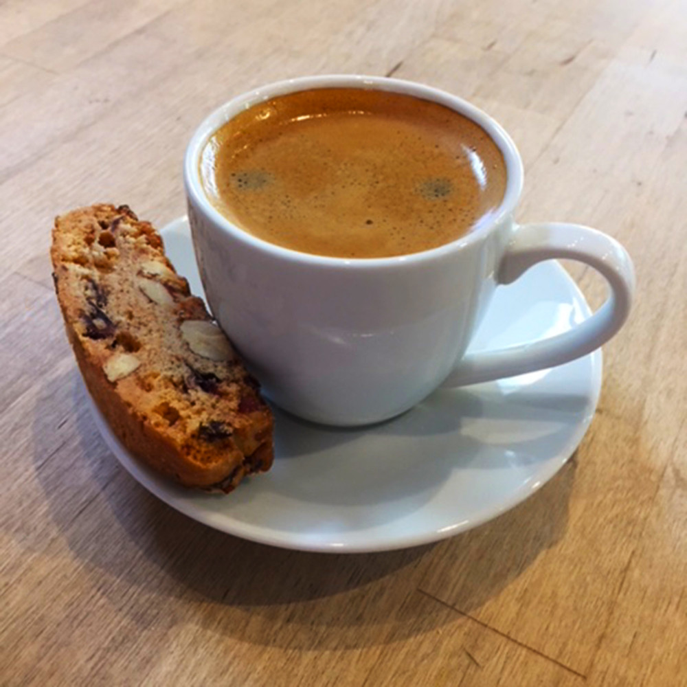 Coffee and Homemade Biscotti