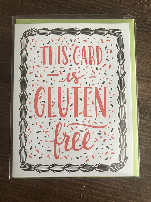 TTB1595 - THIS CARD IS GLUTEN FREE