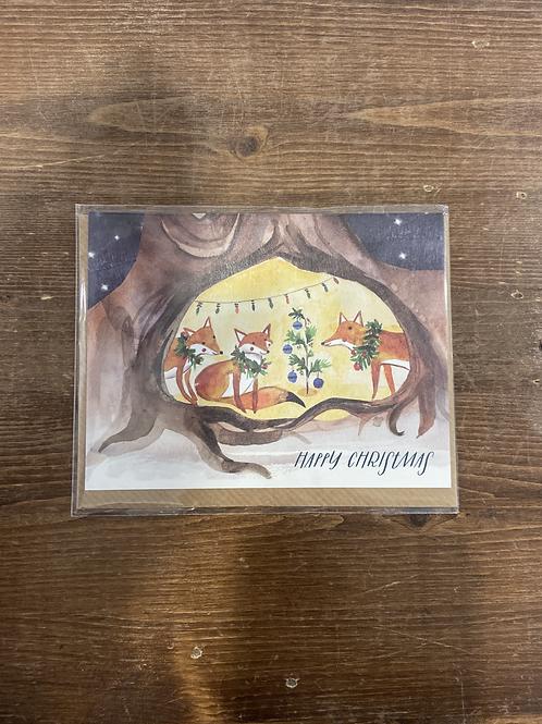 XHPX1904 - HAPPY CHRISTMAS FOX FAMILY