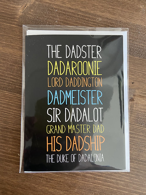 R6862 - THE DADSTER, DADAROONIE, LORD DADDINGTON...