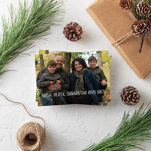 HAPPIEST OF HOLIDAYS - 5x7 FLAT GREETING CARD