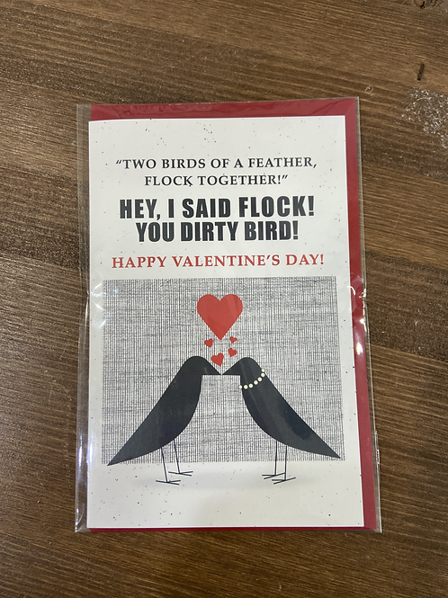 JC - TWO BIRDS OF A FEATHER FLOCK TOGETHER VALENTINE