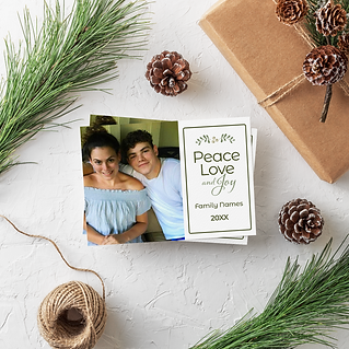 personalized holiday ards