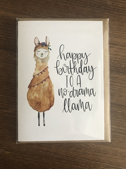 PP02 - HAPPY BIRTHDAY TO A NO DRAMA LLAMA