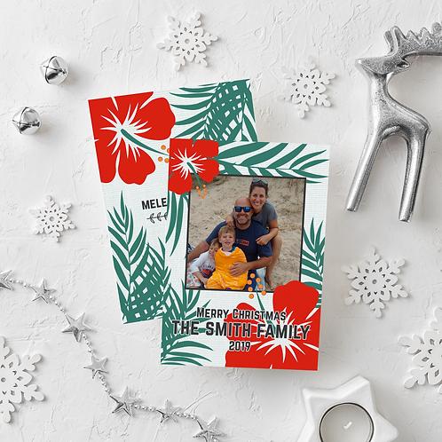 HAWAIIAN CHRISTMAS - 5x7 FLAT GREETING CARD