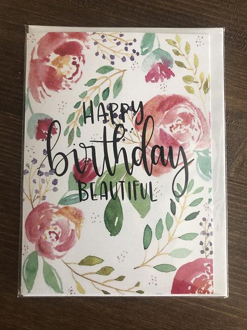 PP08 - HAPPY BIRTHDAY BEAUTIFUL