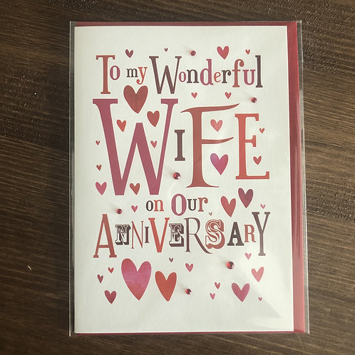 JL31 - TO MY WONDERFUL WIFE ON OUR ANNIVERSARY