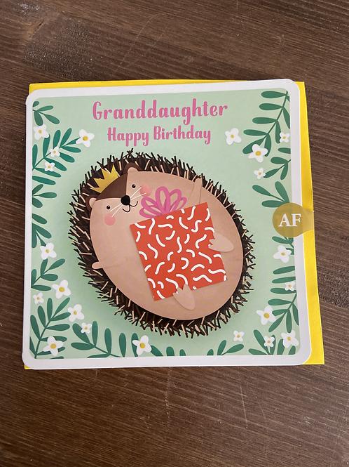 AF - GRANDDAUGHTER HAPPY BIRTHDAY