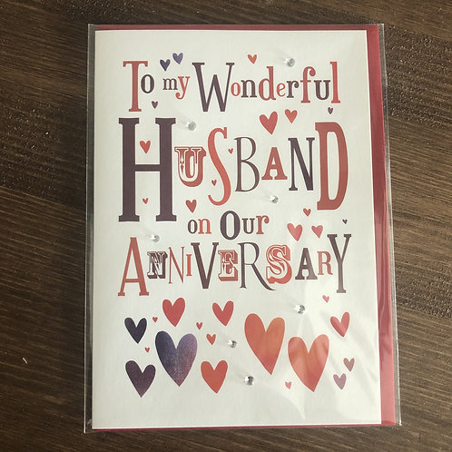 JL32 - TO MY WONDERFUL HUSBAND ON OUR ANNIVERSARY