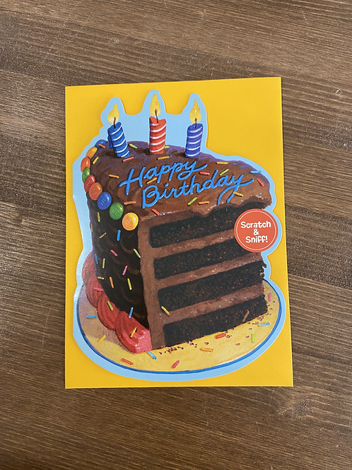 C137129 - HOPE YOUR BIRTHDAY IS SUPER SWEET SCRATCH AND SNIFF
