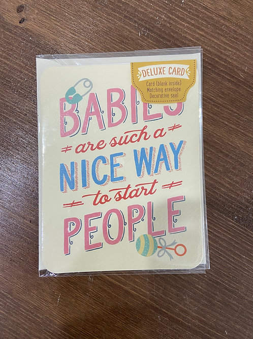 C0061 - BABIES ARE SUCH A NICE WAY TO START PEOPLE