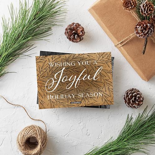 JOYFUL HOLIDAY SEASON - 5x7 FLAT GREETING CARD