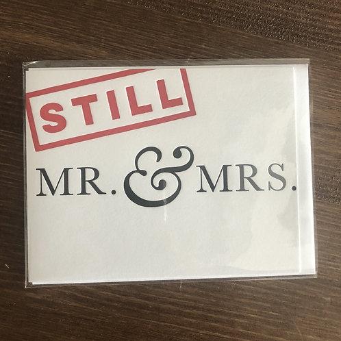 HP186 -STILL MR. & MRS.