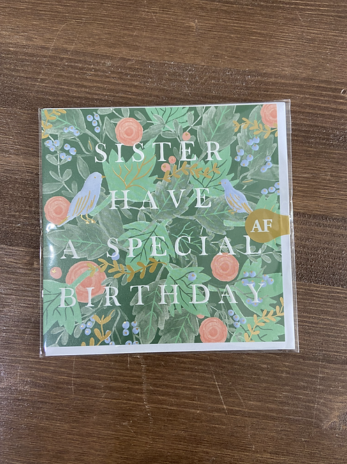 AFR69 - SISTER HAVE A SPECIAL BIRTHDAY
