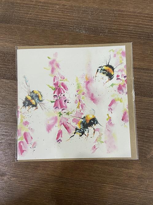 RT84 917 - FOXGLIVES BEE CARD