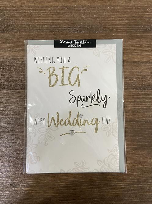YT470 - WISHING YOUA BIG SPARKLY HAPPY WEDDING DAY