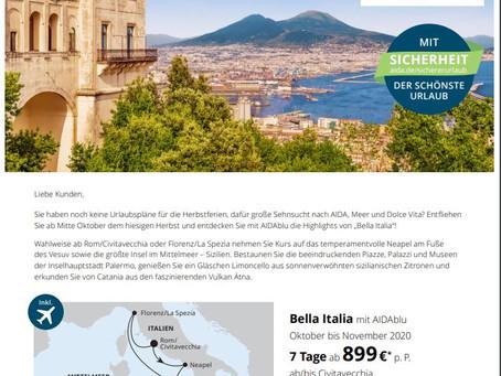 In guten wie in schlechten Zeiten :-) Mit Aida nach Bella Italia!
