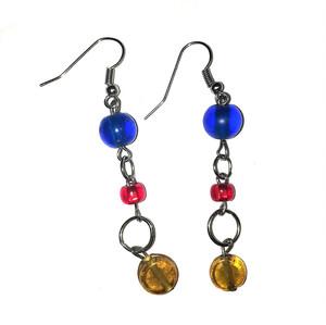 Primary Color Rings Dangling Earrings