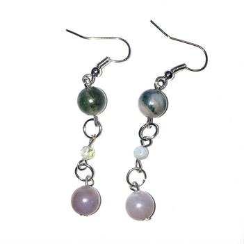 Earth Tones dangling Ring Earrings