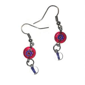Flower and Ball Dangling Earrings