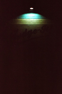 Low Light on a Blue Wall