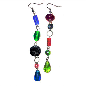 Mismatched & Multicolored Dangling Earrings