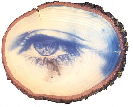 Eye Woden Print