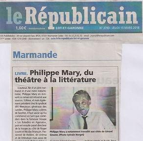 Article Républicain sur le roman Promenade autour d'Hoan Kiem de Philippe Mary