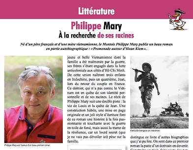 roman Promenade autour d'Hoan Kiem de Philippe Mary article le Canard Gascon