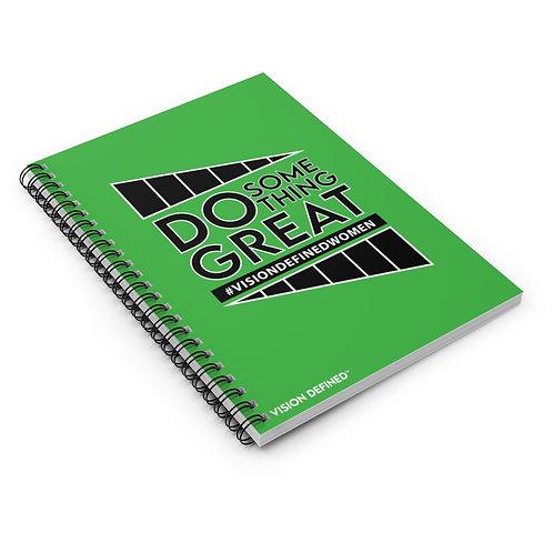 Do Something Great! Spiral Journal (Green)