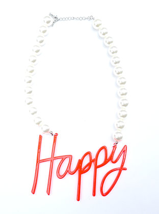 Happy Pearl Necklace