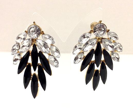 Opaque Black Earrings