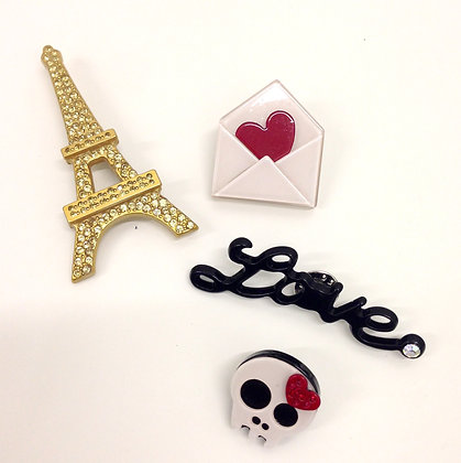 Paris Brooches Set