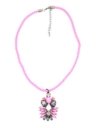 Insect Pink Pendant Necklace