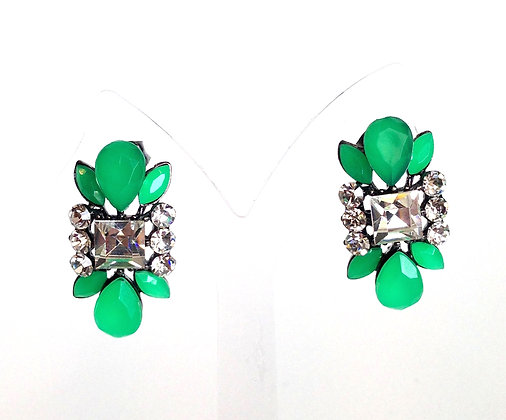 Bling Green Earrings