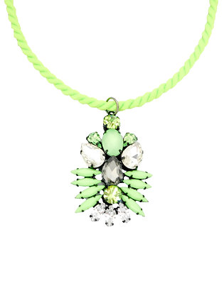 Insect Lime Pendant Necklae