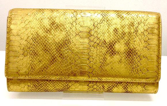 Lurwa Gold Fashion Clutch
