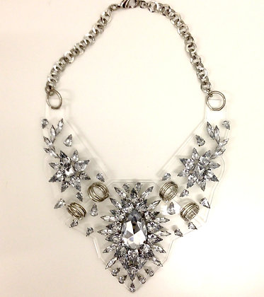 Shou Silver Statement Necklace