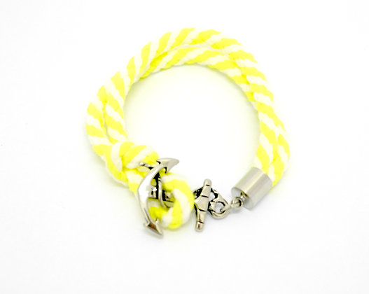 Win Lime Strap Bracelet