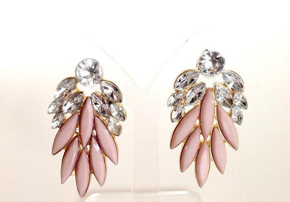 Opaque Beige Earrings