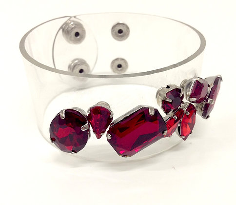 Jewel Red Clear Cuff
