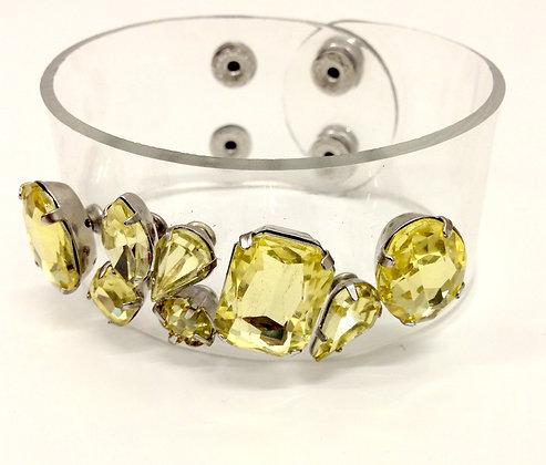 Jewel Yellow Clear Cuff